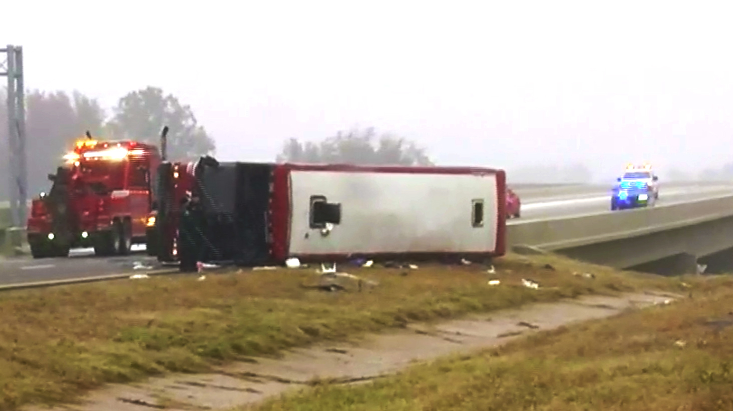 Tour Bus Crash Leaves Two Dead
